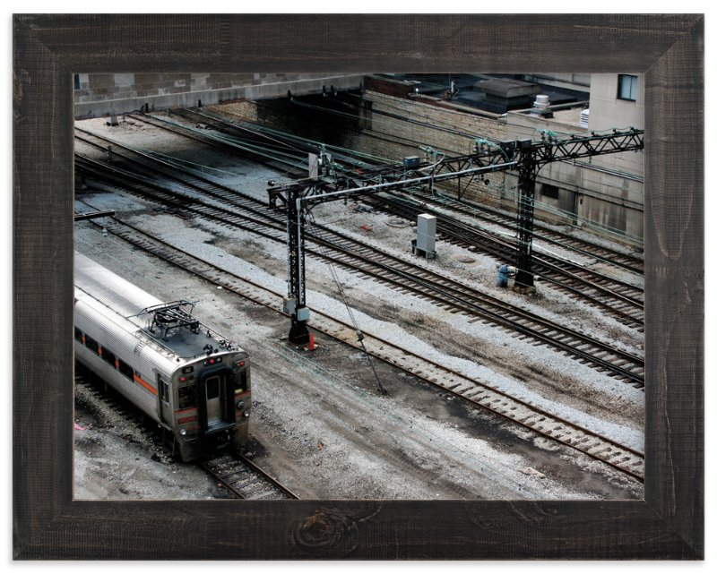 """""""Down by the Train Yard"""" - Art Print by AJD in beautiful frame options and a variety of sizes."""