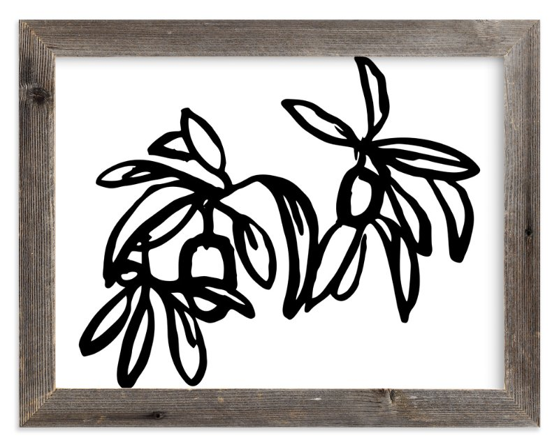 """Inked Kumquat- Long"" - Art Print by Katie Jarman in beautiful frame options and a variety of sizes."