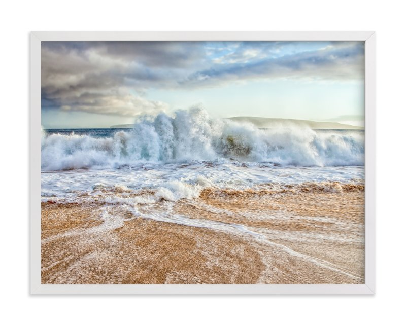 """""""Chaos in the Waves"""" - Art Print by Mary Ann Glynn-Tusa in beautiful frame options and a variety of sizes."""