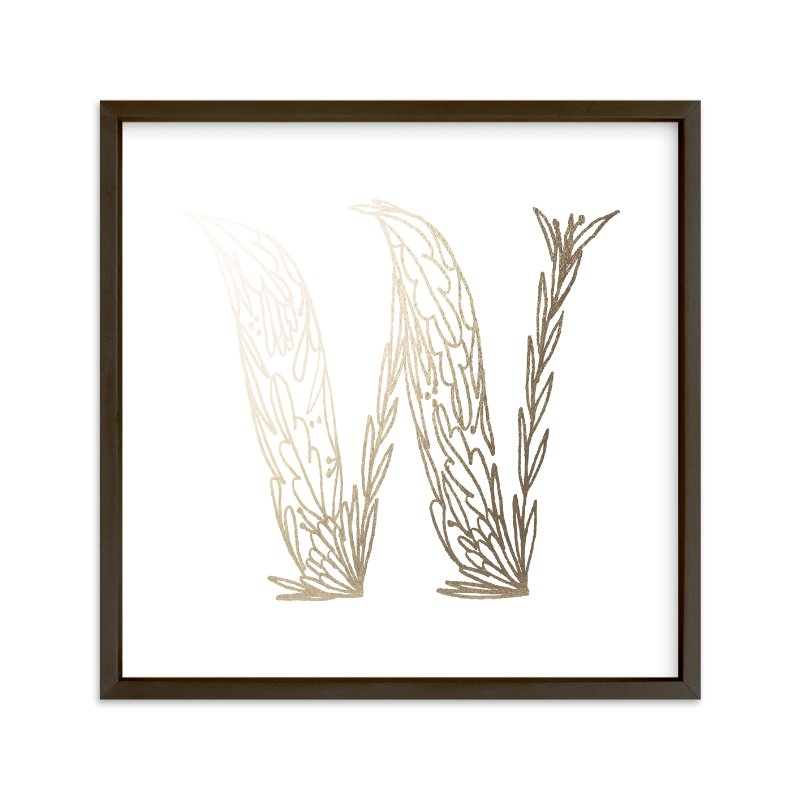 """""""Botanical W"""" - Foil-pressed Art Print by Grace Kreinbrink in beautiful frame options and a variety of sizes."""
