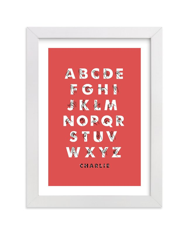 """Signed ABCs"" - Nursery Custom Art Print by ERAY in beautiful frame options and a variety of sizes."