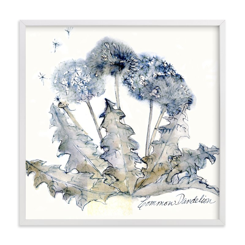 """Graceful Dandelions"" - Art Print by Me Amelia in beautiful frame options and a variety of sizes."