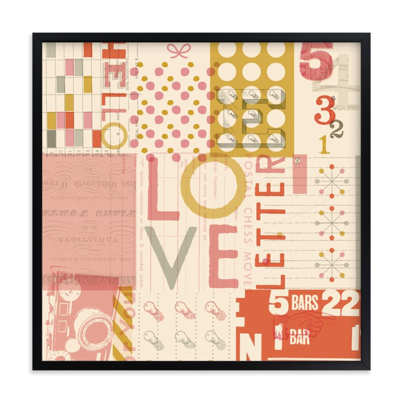 """""""Love Letter"""" - Art Print by ERAY in beautiful frame options and a variety of sizes."""