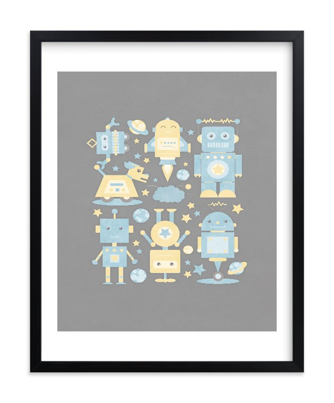 """The Robot Collective"" - Limited Edition Art Print by Dawn Jasper in beautiful frame options and a variety of sizes."
