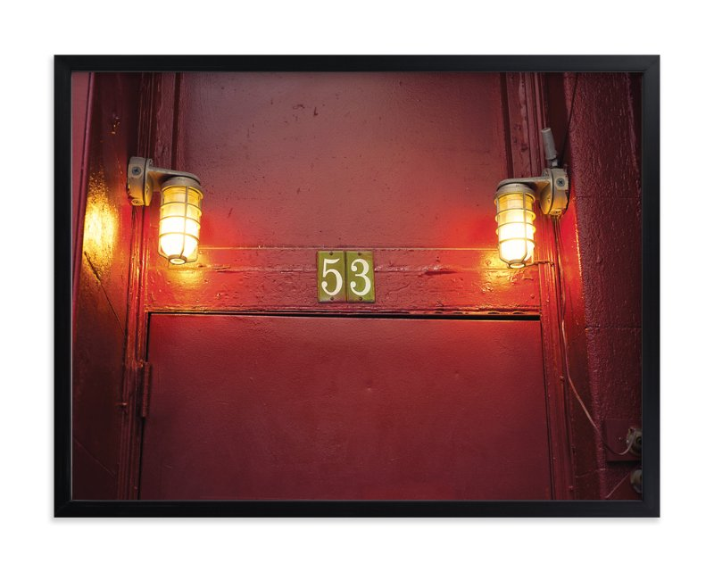 """""""Red Door 53"""" - Art Print by Smile Peace Love in beautiful frame options and a variety of sizes."""