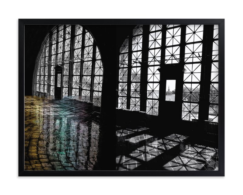 """""""Elis Island NYC"""" - Art Print by Mazing Designs in beautiful frame options and a variety of sizes."""