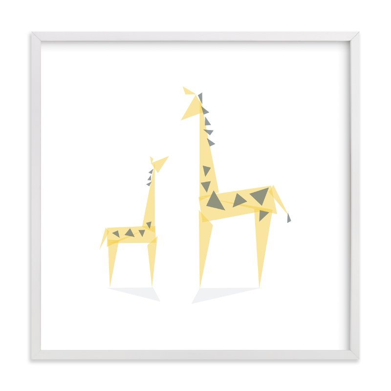 Geometric Giraffe Mother And Baby Wall Art Prints By Caroline Szpak ...