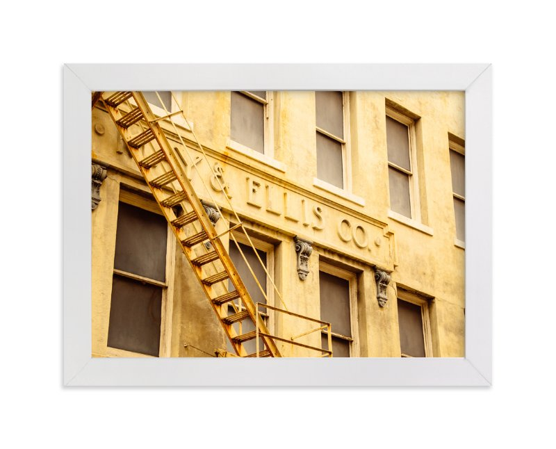 """""""Yellow Building"""" - Art Print by Kamala Nahas in beautiful frame options and a variety of sizes."""