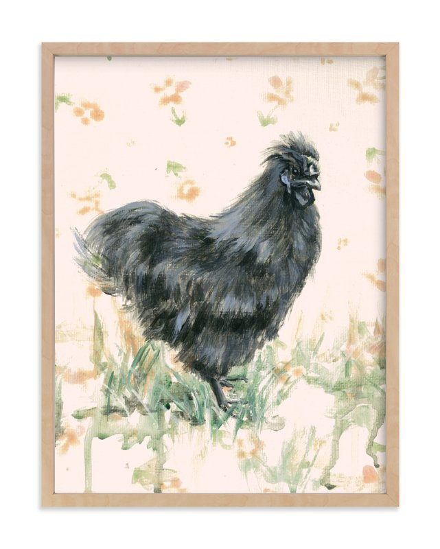 """Cecelia Grey"" - Art Print by Rebecca Weller in beautiful frame options and a variety of sizes."