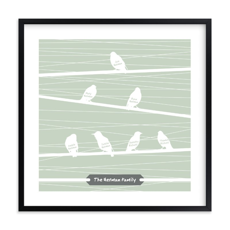 """Birds of a Feather Flock Together"" - Nursery Custom Art Print by Serenity Avenue in beautiful frame options and a variety of sizes."
