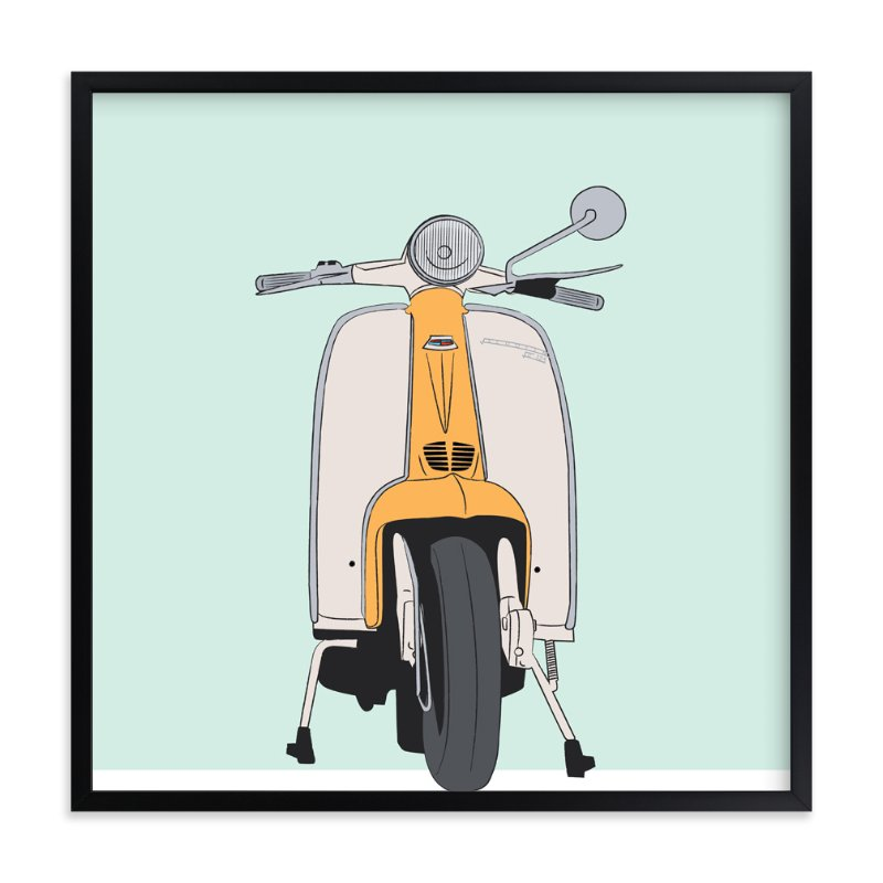 """Scootin'"" - Art Print by CRAFTE design in beautiful frame options and a variety of sizes."