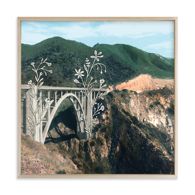 """""""Bixby Bridge Road Block"""" - Art Print by Danielle Kroll in beautiful frame options and a variety of sizes."""