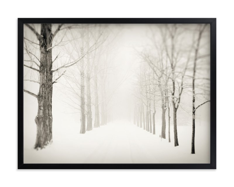 """Winter Journey"" - Art Print by Gabrial Reising in beautiful frame options and a variety of sizes."