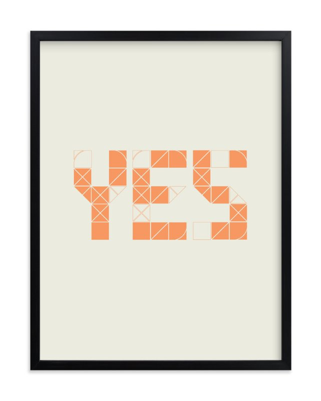 """Definitely Yes"" - Art Print by trbdesign in beautiful frame options and a variety of sizes."
