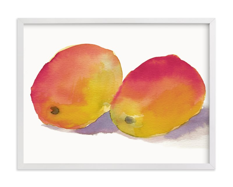 """Marvelous Mangos"" - Art Print by Me Amelia in beautiful frame options and a variety of sizes."