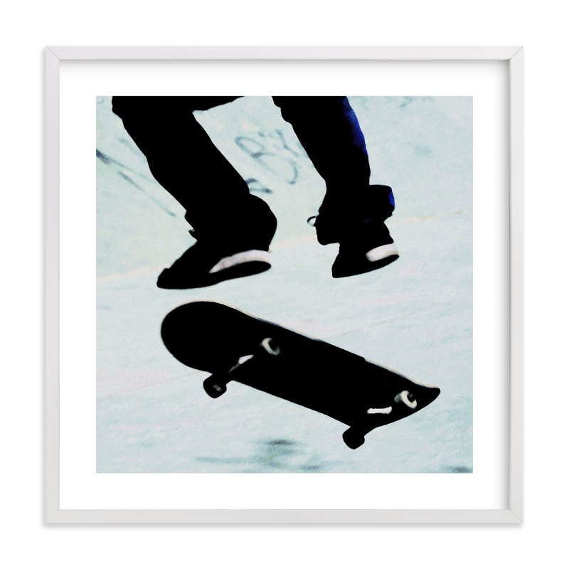 """""""Skate"""" - Limited Edition Art Print by Susanna Nousiainen in beautiful frame options and a variety of sizes."""