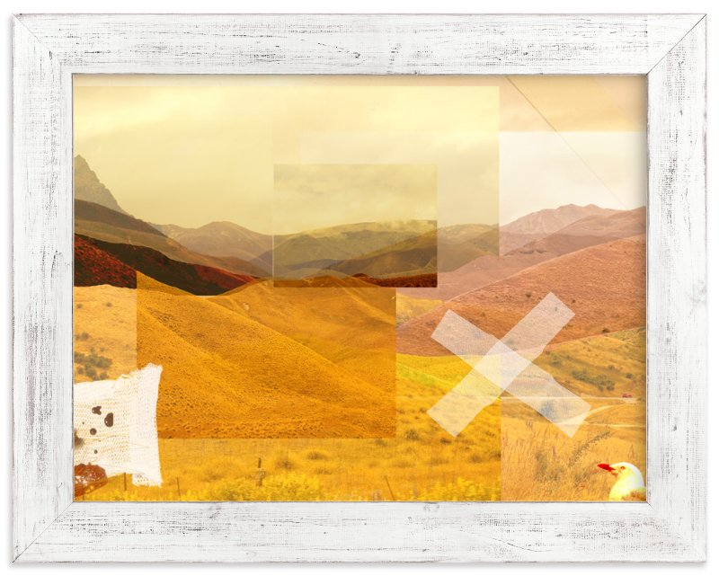 """Into Hills"" - Art Print by Lesley Smith in beautiful frame options and a variety of sizes."