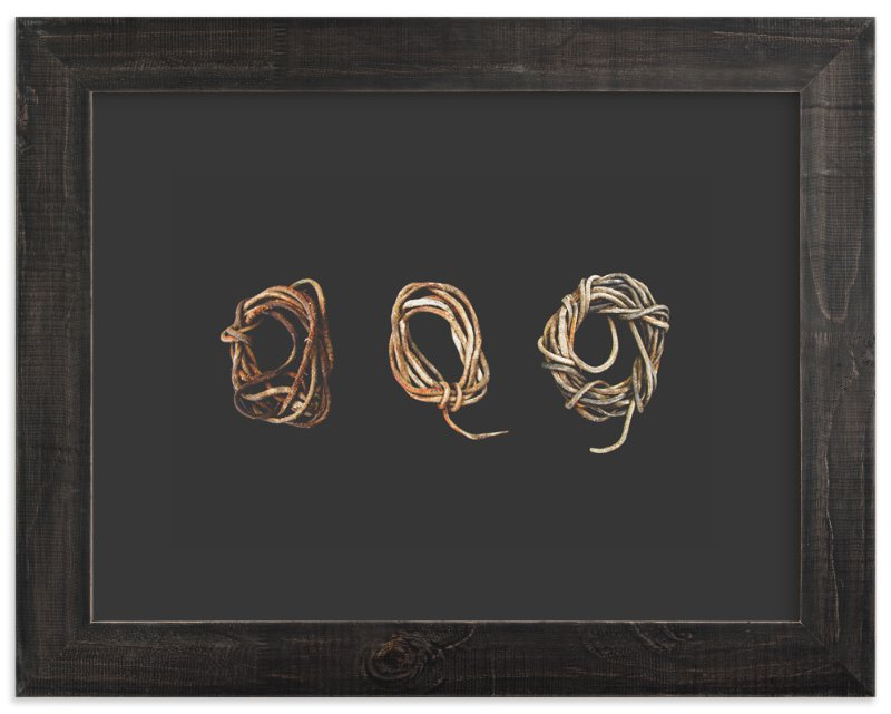 """Loosely Tied"" - Art Print by Elemental in beautiful frame options and a variety of sizes."
