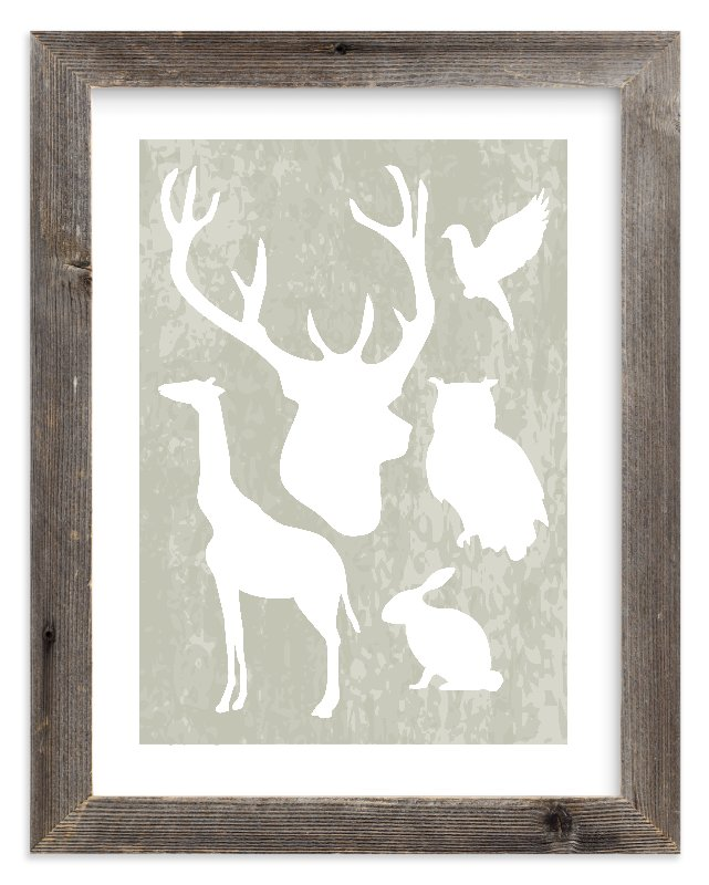 """""""Animal Silhouettes"""" - Limited Edition Art Print by Paisley Tree Press in beautiful frame options and a variety of sizes."""