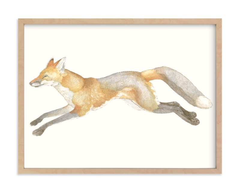 """Swift Fox"" - Art Print by Natalie Groves in beautiful frame options and a variety of sizes."