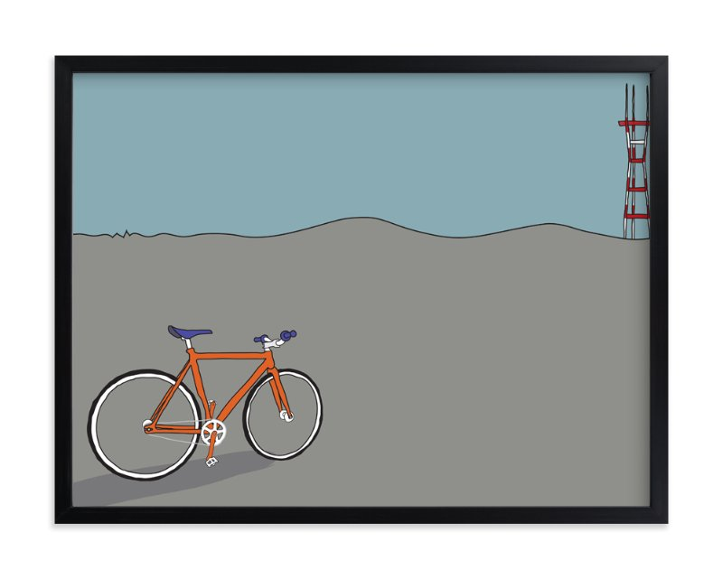 """Longing for Sutro"" - Art Print by Kai Hofius in beautiful frame options and a variety of sizes."