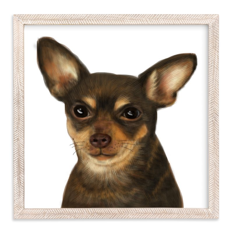 """Chihuahua"" - Art Print by iamtanya in beautiful frame options and a variety of sizes."