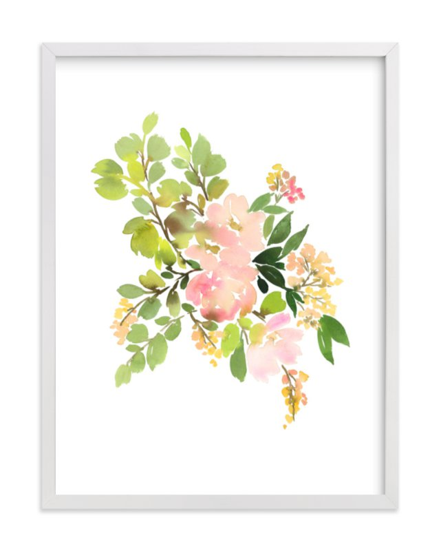 """Flora in Peach II"" - Limited Edition Art Print by Yao Cheng Design in beautiful frame options and a variety of sizes."