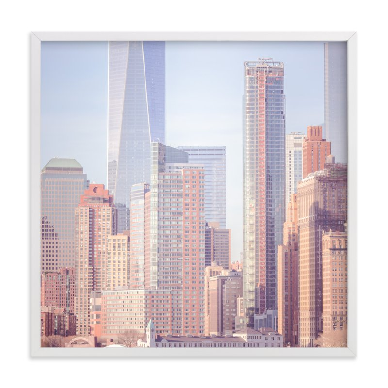 """""""A distant skyline"""" - Art Print by Lisa Sundin in beautiful frame options and a variety of sizes."""