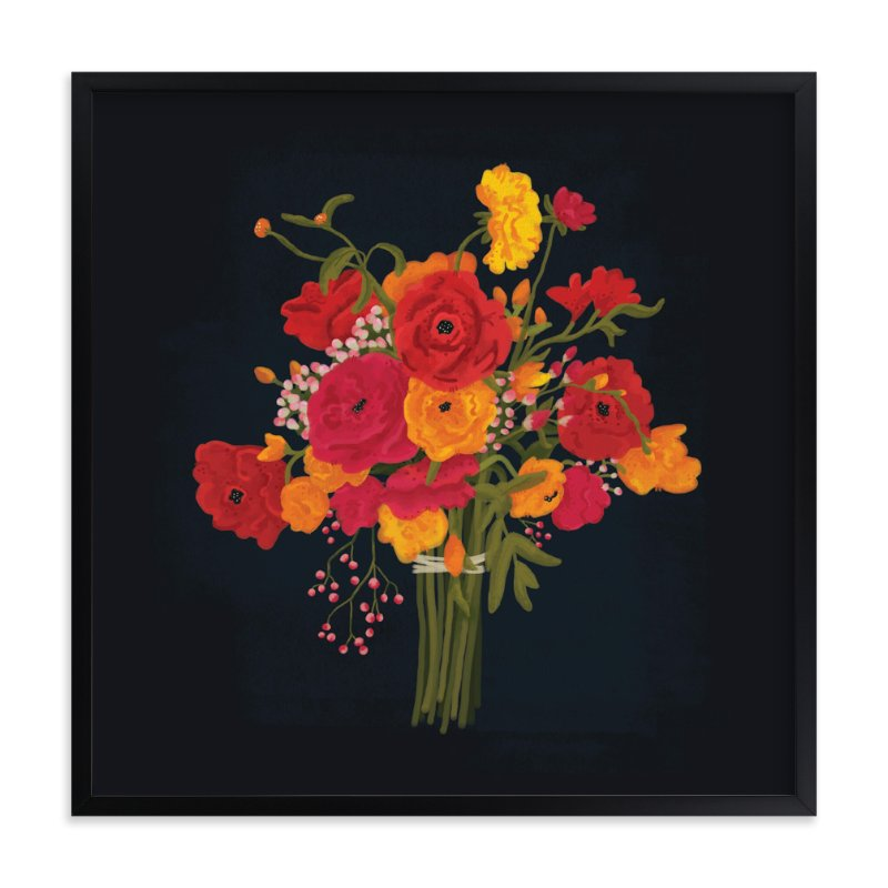 """In Bloom"" - Art Print by Pistols in beautiful frame options and a variety of sizes."