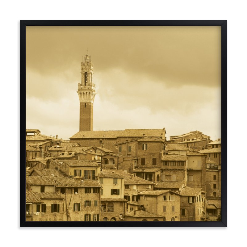 """Rooftops"" - Art Print by Stellax Creative in beautiful frame options and a variety of sizes."