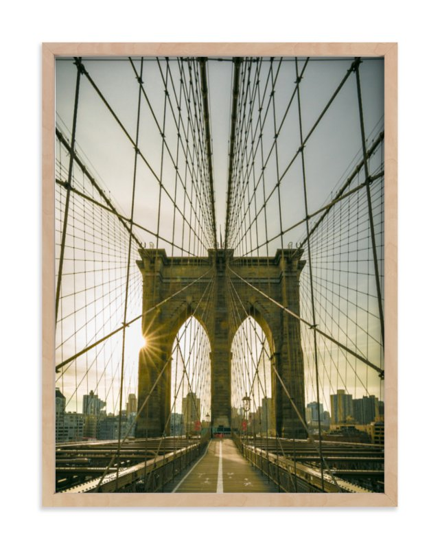 """Brooklyn Light"" - Art Print by Jason Derck in beautiful frame options and a variety of sizes."
