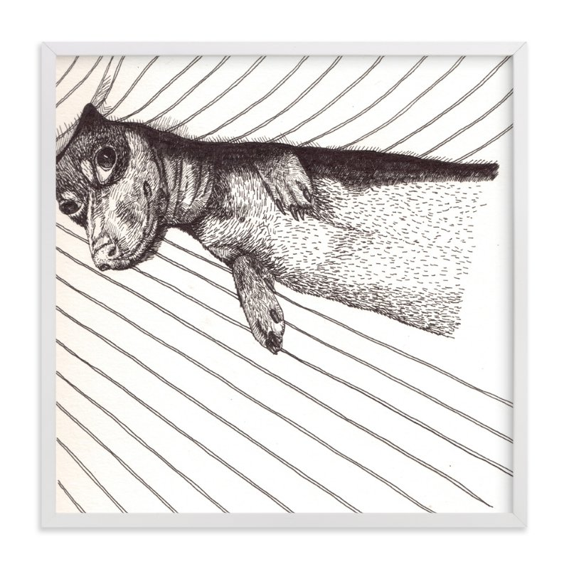 """""""doggy"""" - Art Print by XL in beautiful frame options and a variety of sizes."""