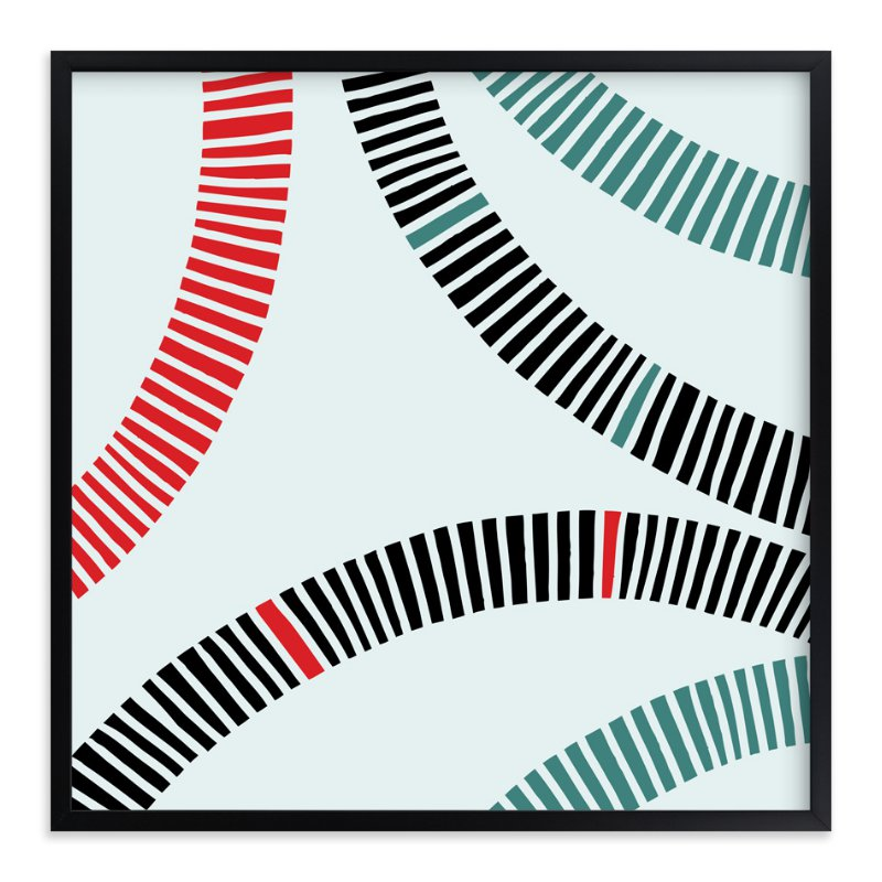 """""""Rail"""" - Art Print by Christine Llewellyn in beautiful frame options and a variety of sizes."""