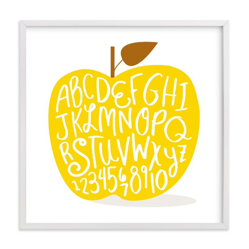 Apple ABCs Wall Art Prints by Baumbirdy | Minted