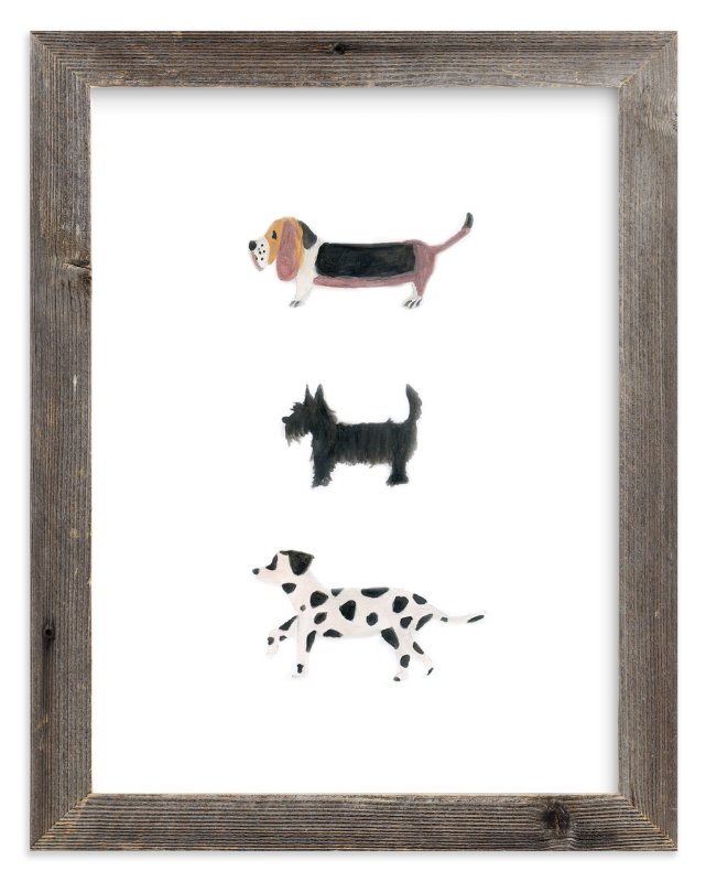 """it's a dog's world"" - Limited Edition Art Print by Sheila Sunaryo in beautiful frame options and a variety of sizes."