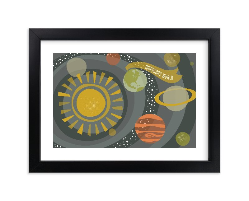 """Galactica"" - Children's Custom Art Print by Melanie Severin in beautiful frame options and a variety of sizes."