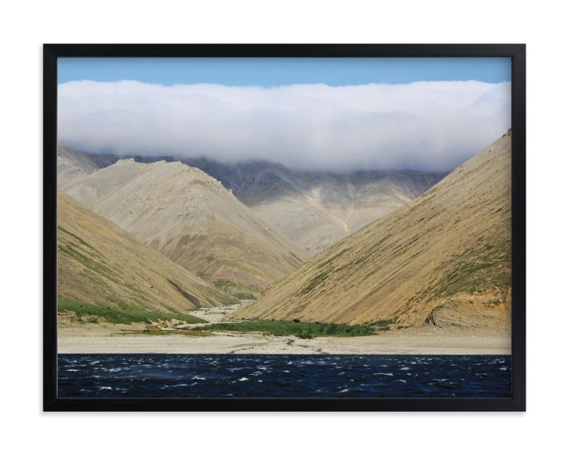 """Clouds on the Mountains"" - Art Print by Dinara May in beautiful frame options and a variety of sizes."