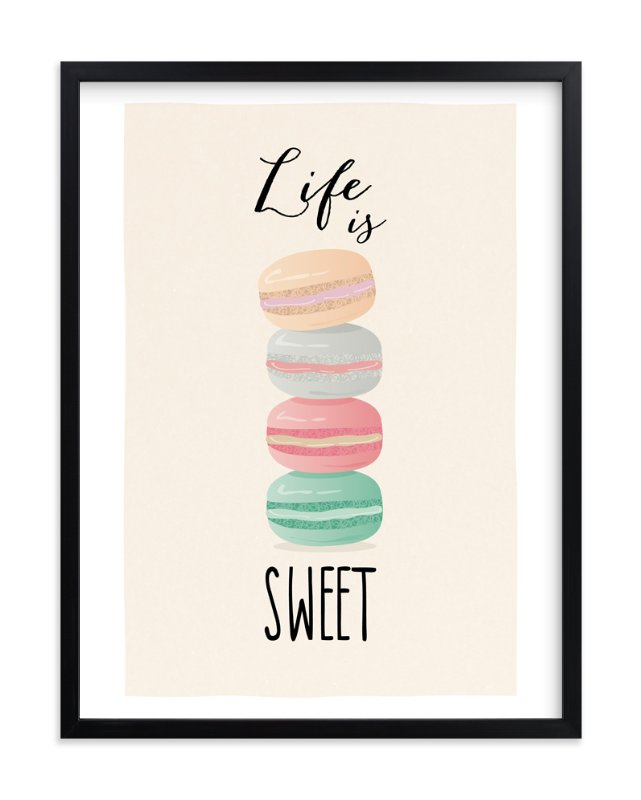 """Life is Sweet"" - Limited Edition Art Print by Ana Sharpe in beautiful frame options and a variety of sizes."