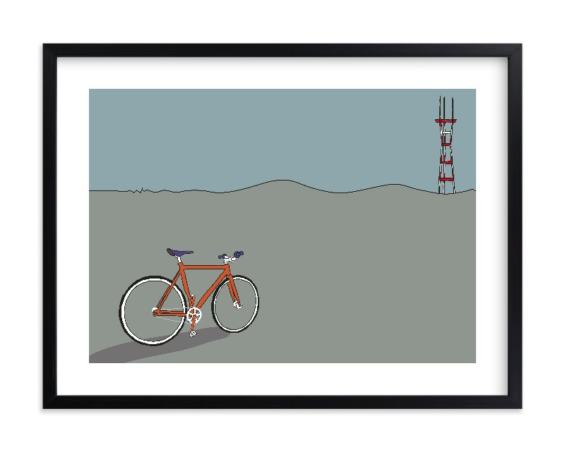 """Longing for Sutro"" - Limited Edition Art Print by Kai Hofius in beautiful frame options and a variety of sizes."