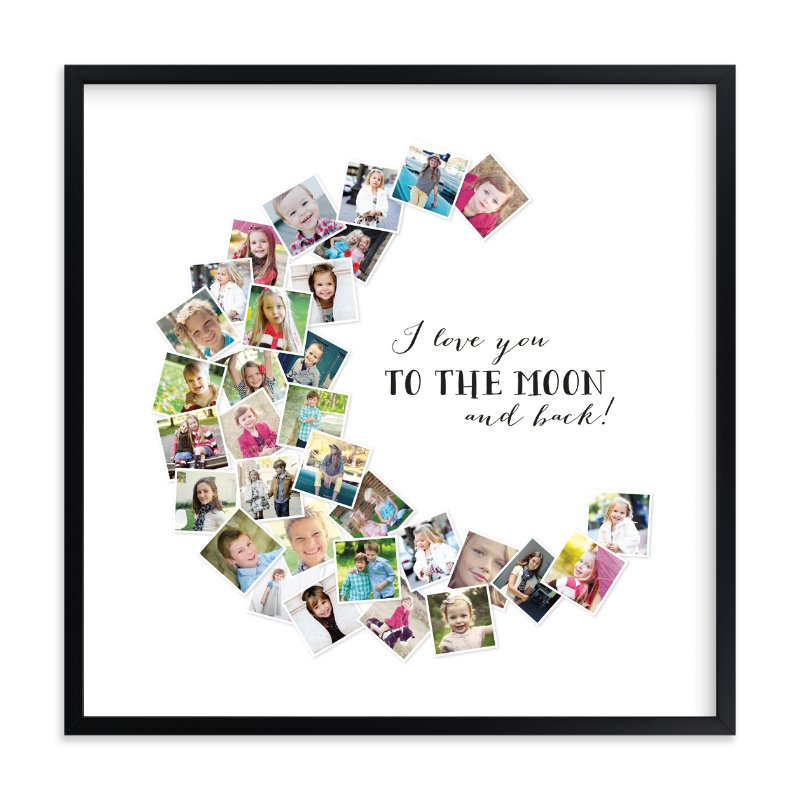 I Love You To The Moon And Back Wall Art love you to the moon & back! wall art printschasity smith | minted