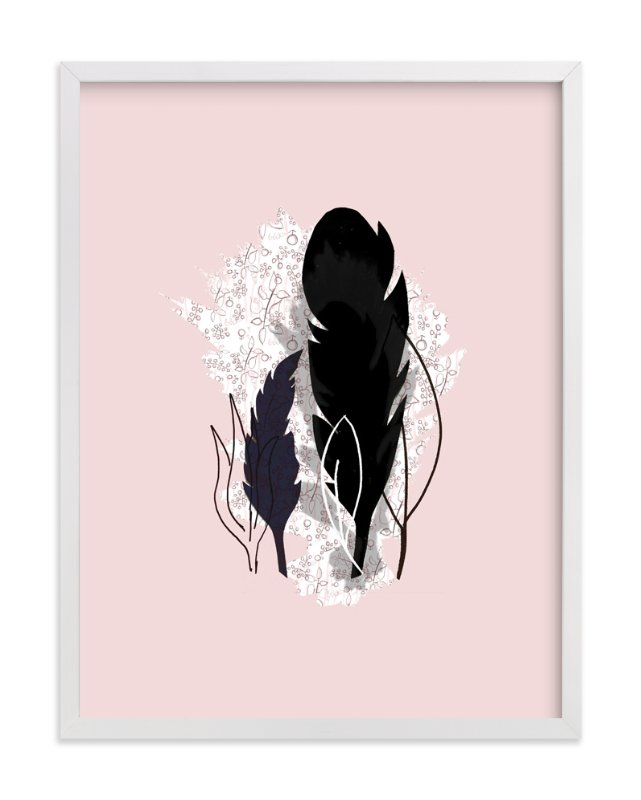 """""""Dark Plumes"""" - Art Print by Lisa Travis in beautiful frame options and a variety of sizes."""