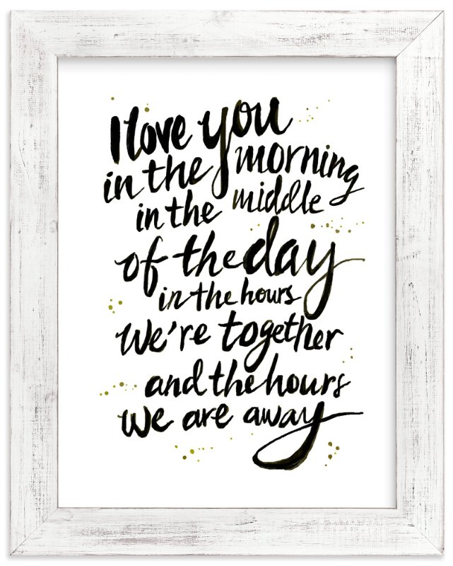 """""""I love you in the morning"""" - Art Print by Cass Loh in beautiful frame options and a variety of sizes."""