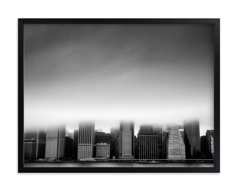 """Foggy City"" - Art Print by Jason Derck in beautiful frame options and a variety of sizes."