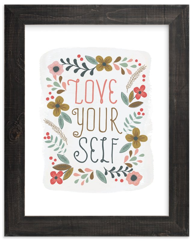 """""""Love Yourself"""" - Limited Edition Art Print by Melanie Severin in beautiful frame options and a variety of sizes."""