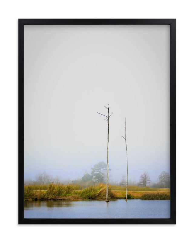 """""""Foggy Bayou"""" - Art Print by Mary Ann Glynn-Tusa in beautiful frame options and a variety of sizes."""
