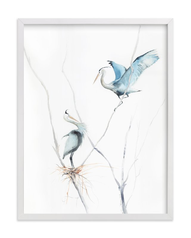 """heron's nest"" - Art Print by Annie Moran in beautiful frame options and a variety of sizes."