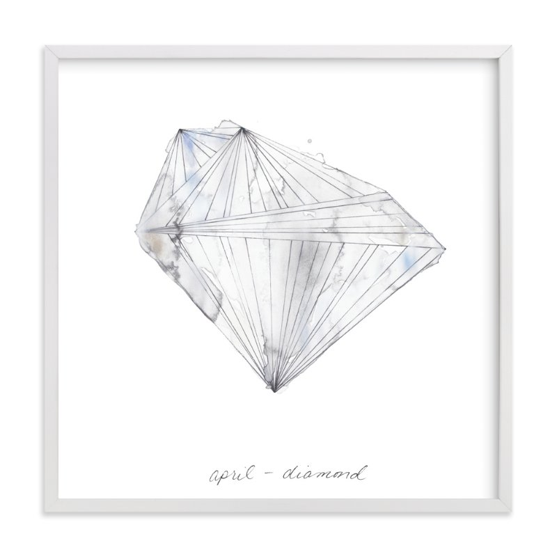 """April - Diamond"" - Art Print by Naomi Ernest in beautiful frame options and a variety of sizes."