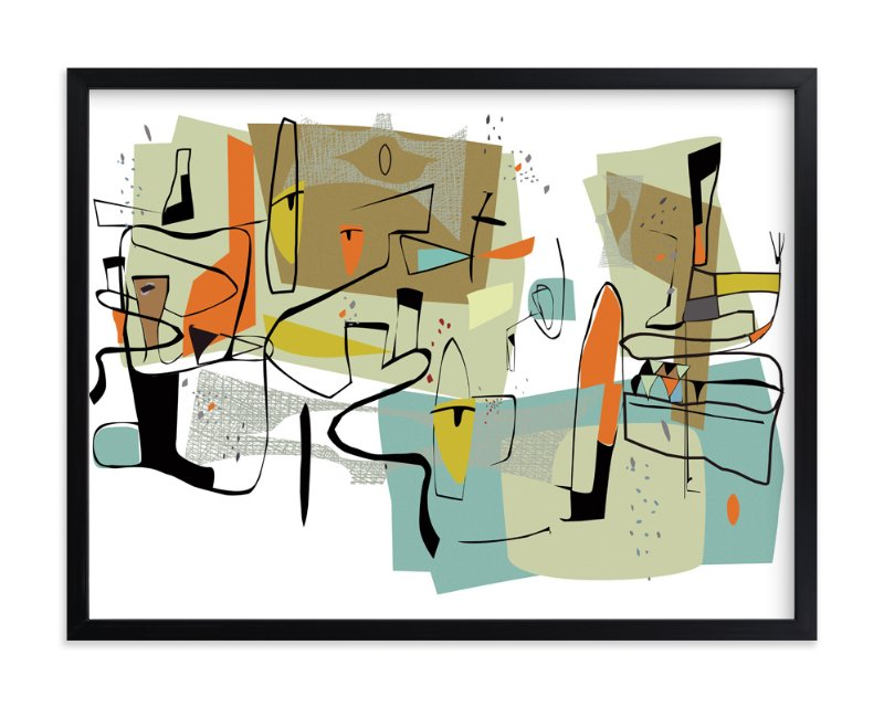 """""""fairview 1954"""" - Art Print by edwin wade in beautiful frame options and a variety of sizes."""