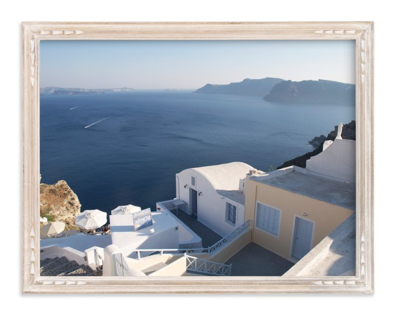 """""""Santorini Splendor"""" - Art Print by Ava Thomson in beautiful frame options and a variety of sizes."""