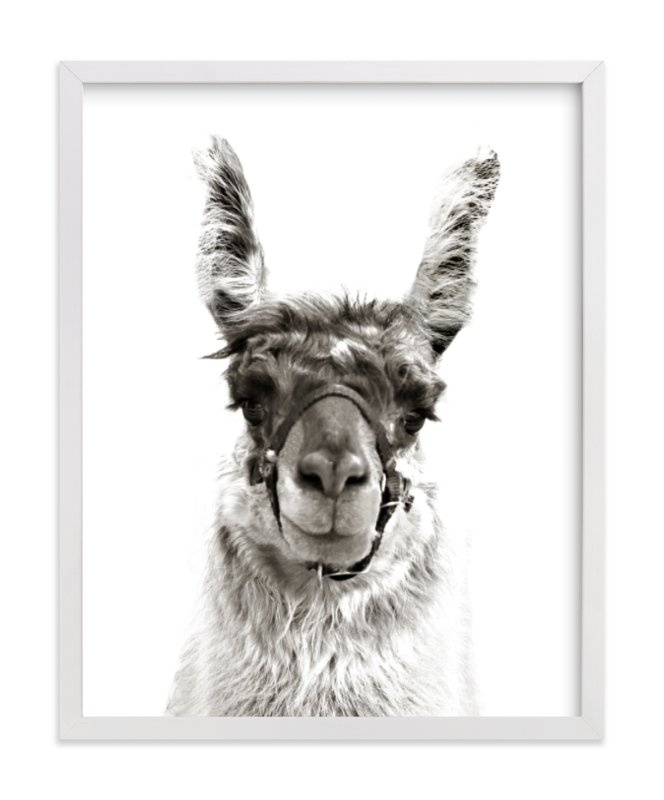 """llama"" - Limited Edition Art Print by Baumbirdy in beautiful frame options and a variety of sizes."
